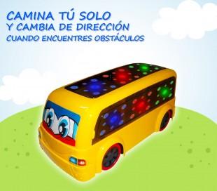 RUDY El bus loco / Emite sonidos y luces si encuentra obstáculos 100005 - Juguete infantil de estimulación