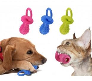 Juguete para animales para morder hecho de goma con sonido interior (14cm)