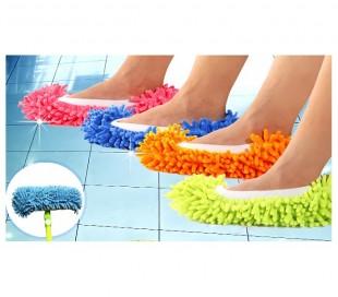 MOP 2 EN 1 - Zapatillas fregona (Pack de 2 - Utilizable hasta la talla 44) en diferentes colores