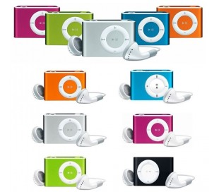 Reproductor MP3 con auriculares y cable usb memoria de 8 gb (no incluido)