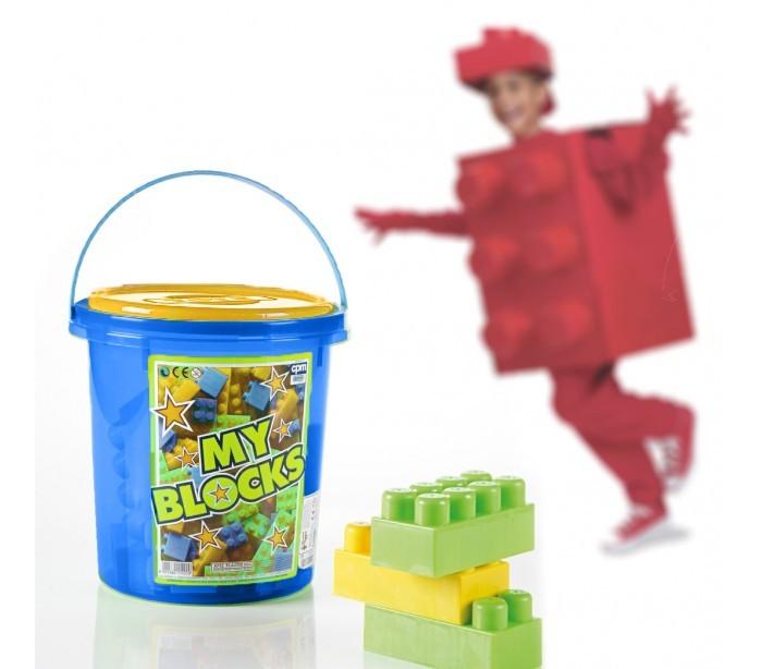 juego de construccin maxi ladrillos piezas en caja con forma de cubo