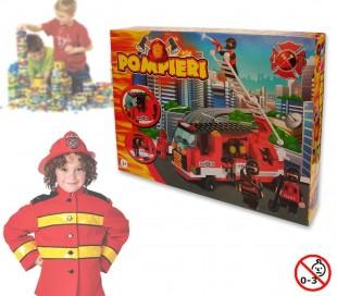 Juego construcción motivo BOMBEROS set 170 PZ 2 personajes incluye camión 371142