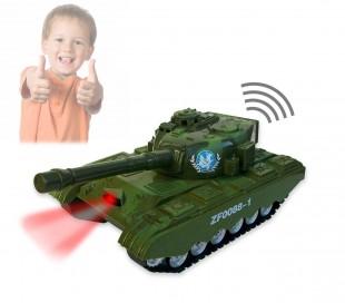 Tanque militar con luces sonidos y cañón para apuntar y disparar 373634