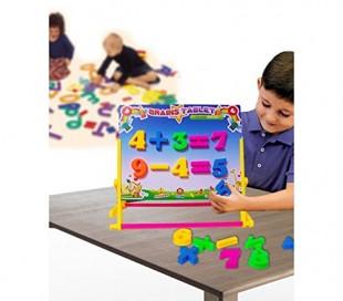 Pizarra para niños + ábaco - Juego y juguete para el aprendizaje infantil 830801