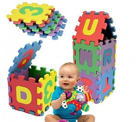Puzzle infantil de espuma EVA con letras y números de colores - Juego de aprendizaje para niños 529052 - UN MONDO DI GIOCHI