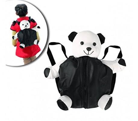 Mochila infantil en forma de peluche de panda mod. Pandy con cremallera y tirantes ajustables 40 x 30 cm