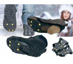Pack de 2 suelas antideslizantes para la nieve y el hielo universales para calzado de hombre y mujer