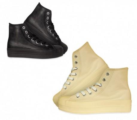 Zapatos modelo FRANKY de cuero con plataforma de 3,5 cm