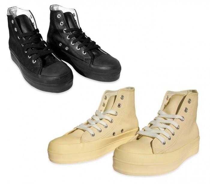 Zapatos modelo FRANKY de cuero con plataforma de 3,5 cm - Negro, 37