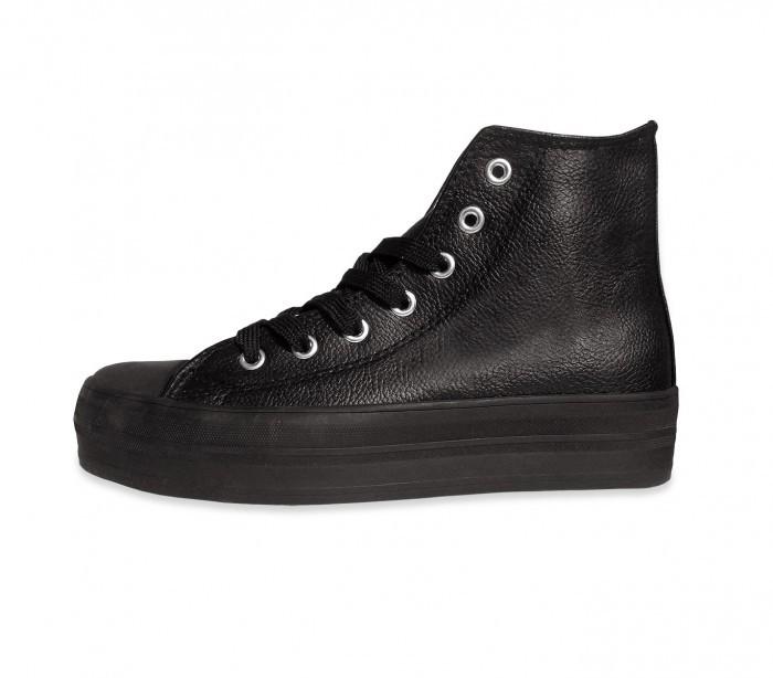 Zapatos modelo FRANKY de cuero con plataforma de 3,5 cm - Beige, 40