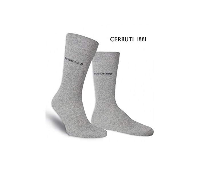 CERRUTI 1881 Pack 3 pares calcetines largos para hombres de algodón ...