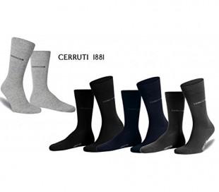 Pack 3 pares de calcetines largos CERRUTI 1881 para hombres de algodón y costura fina