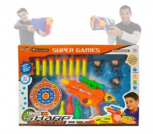 Juego infantil de disparos (Incluye balas - diana - objetivo) 2913