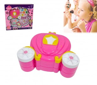 Estuche de maquillaje con forma de CARROZA para niñas - Juguete infantil de imitación