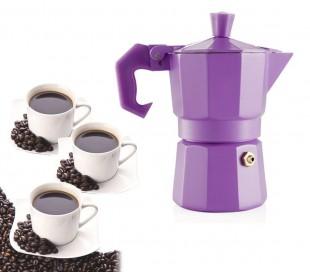 Cafetera italiana para 3 tazas de café COLORS FUN - WELKHOME