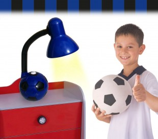 Lámpara de escritorio infantil para niño y niña con motivo de PELOTA DE FÚTBOL - Decoración del hogar