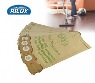 Set 3 bolsas para aspiradora con filtro de papel compatibles con VK 120/121/122 con cierre deslizante