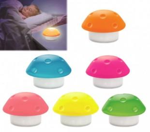 Lámpara de noche infantil 3 LED en forma de SETA de silicona - Decoración del hogar