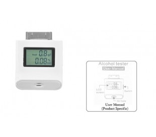Detector de alcohol alcoholimetro test soplar para iphone 4/4s ipad 2&3 ipod lcd