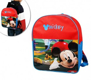 Mochila infantil escolar con motivo de Mickey Mouse 32 x 26 x 12 cm - Disney B13021