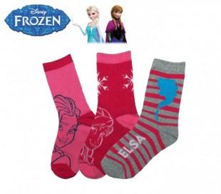 Pack 3 pares de calcetines DISNEY con varios estampados y personajes para niñas
