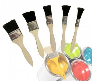 Set de 5 brochas profesionales para barnizar y pintar 79303