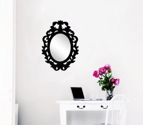 Espejo adhesivo a la pared con marco para armarios pasillos y espacios pequeños (32 x 23 cm) – Decoración del hogar