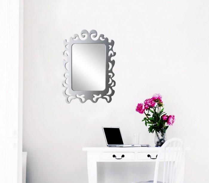 Espejo adhesivo pared con marco para armarios pasillos 32x23cm mediawavestorees - Espejo adhesivo ...