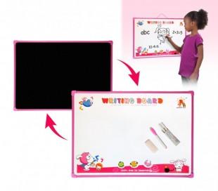 Pizarra de pared de doble cara con tizas y marcador 2 en 1 multiusos para niños y niñas (54x 39 cm) 725671 – Juguete infantil