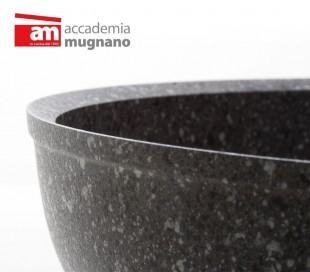 Cacerola con 2 mangos 20 cm antiadherente y revestimiento con efecto piedra revestimiento - Accademia Mugnano CUORE DI PIETRA