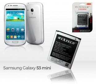 Batería compatible con Samsung Galaxy S3 Mini Galaxy Ace 2 y siguientes - MAXTECH batería Li-ion 1900mAh T010