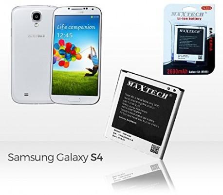 Batería compatible con Samsung Galaxy S4 (9500) - MAXTECH batería Li-ion 2600mAh T047