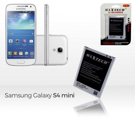 Batería compatible con Samsung Galaxy S4 Mini i9192 - MAXTECH batería Li-ion 1900mAh T011