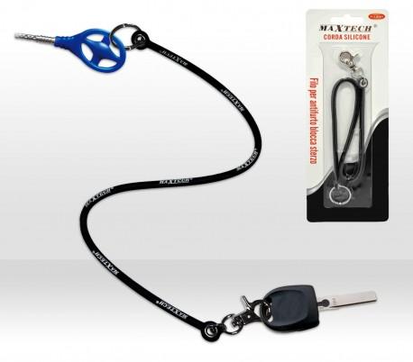 Llavero antirrobo de silicona para las llaves del coche (incluye mosquetón) FI-BL001