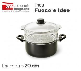 Cacerola 20 cm mangos antiadherente efecto piedra - Linea FUOCO & IDEE