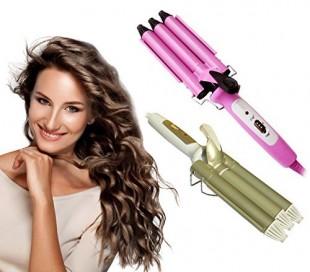Ondulador de pelo con recubrimiento de cerámica (40 W) color rosa - TRIFERRO