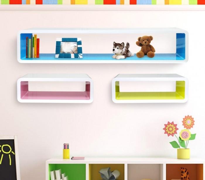 Estanter as diferentes colores hechas de madera lacada - Estanterias de colores ...
