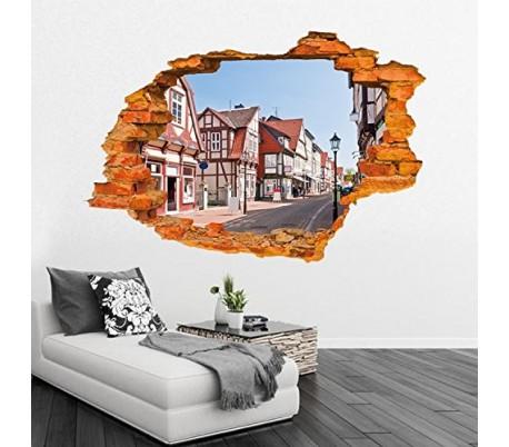 Vinilo 3D con efecto hiperrealista y motivo de ELEFANTES / ÁFRICA (100 x 70 cm) – Decoración del hogar mws1834