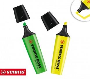 Mini subrayadores Stabilo Boss (pack de 3 piezas en surtidos colores) B-42852