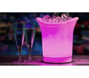 Cubitera LED con cambio de color automático - Accesorio ideal para fiestas y eventos