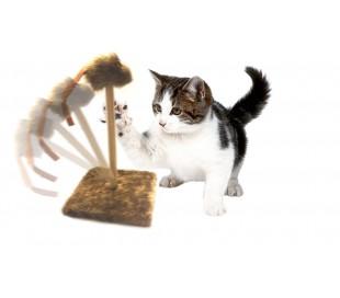 Juguete + Rascador para gatos con ratón (30 x 30 x 35 cm)