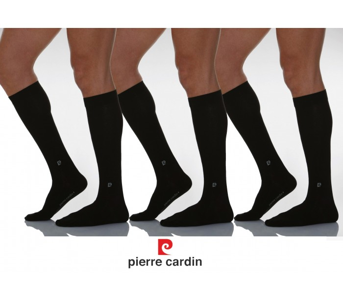 Pc 100 pack 3 pares de calcetines de color negro hechos de for Pierre cardin ropa interior