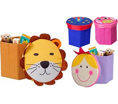 Baúl para juguetes con diferentes motivos
