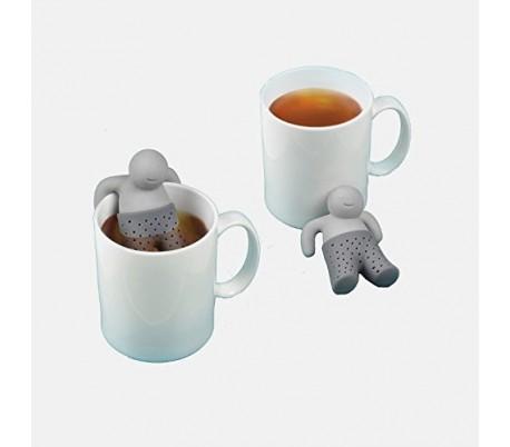 : MWS2373 Infusor de té manzanilla bebidas hecho de silicona con forma de HOMBRE