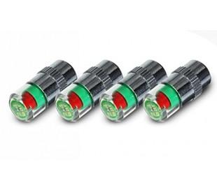 MW2343 Kit 4 medidores de presión de neumáticos 2,4 bar - 36 PSI con indicador