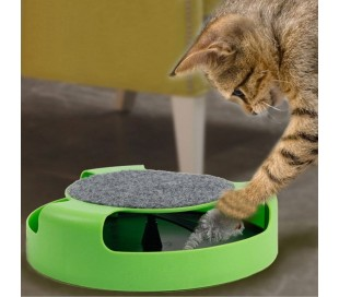 Juguete para mascótas gatos con ratón atrapado en el interior (25 cm)