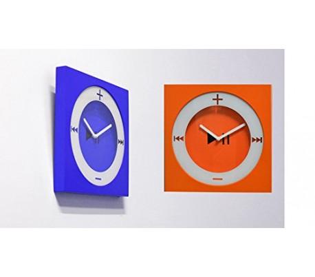803413 Reloj de pared estilo MP3 (26 X 26 cm) en diferentes colores - Decoración del hogar
