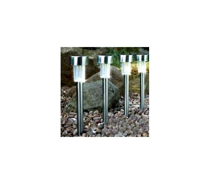 Set 4 lamparas a energia solar de jard n - Lampara de jardin solar ...