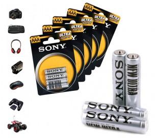 Paquete de 32 - 52 - 76 - 100 Mini Sony New Ultra tamaño AA de 1,5 V AAA R03 de zinc-carbono