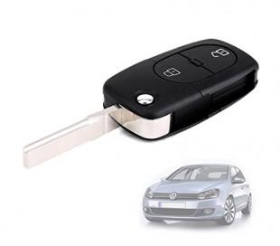 Carcasa para llave de coche con control remoto compatible con VOLKSWAGEN (2 botones)
